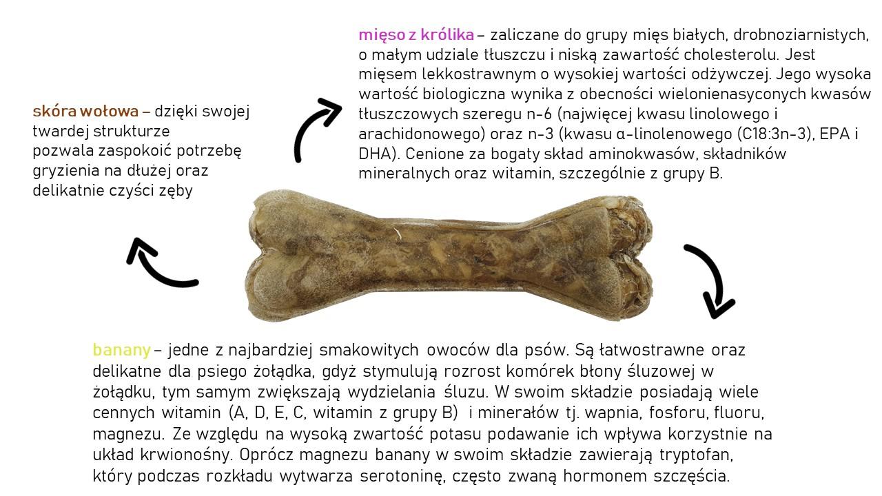 Kość do żucia dla wybrednych psów 13,5 cm